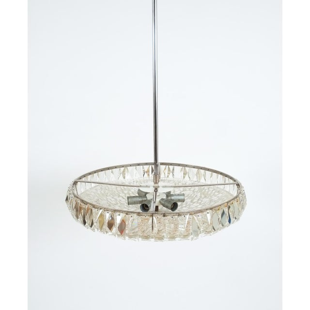 Mid-Century Modern Beautiful Bakalowits Dome Crystal Glass Chandelier For Sale - Image 3 of 8