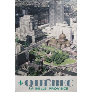 1960s Canadian Travel Poster, Montreal, Quebec, La Metropole Du Canada For Sale