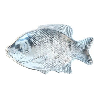 Silver Aluminum Fish Platter For Sale