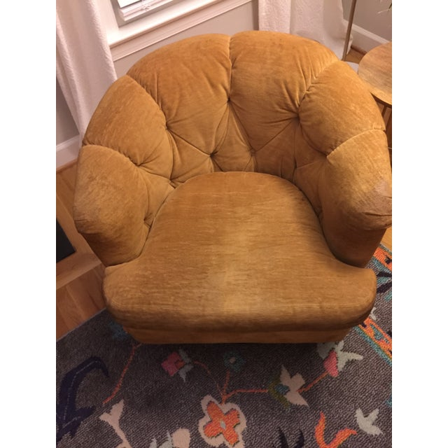 Mid-Century Baughman Style Plinth Base Swivel Chair For Sale - Image 4 of 10