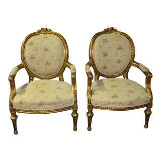 1960s Renaissance Round Back Chairs - a Pair For Sale