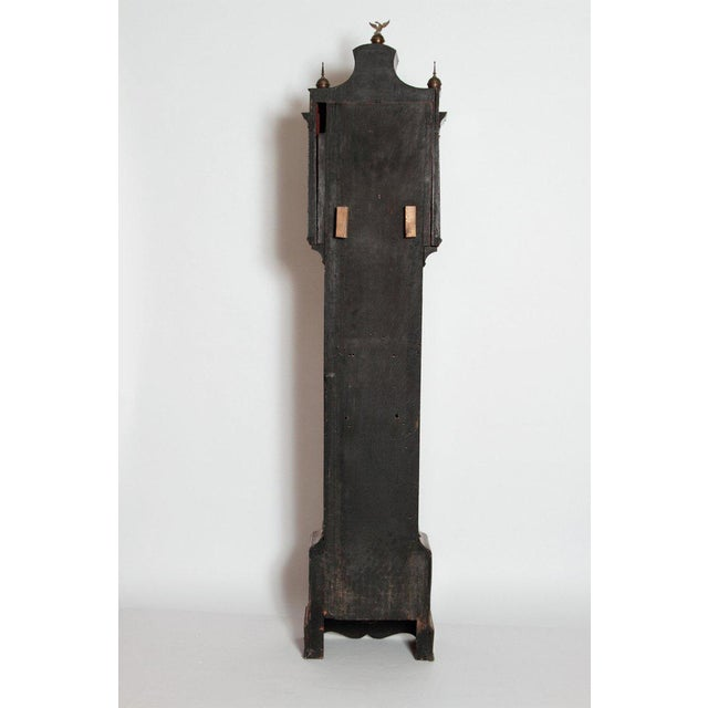 George II Lacquered Chinoiserie Tall Case Clock Inscribed Jno. Fladgate, London For Sale - Image 12 of 13