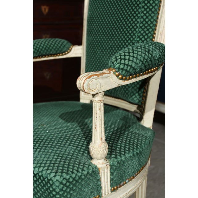 French Louis XVI Style Armchairs - A Pair - Image 3 of 6
