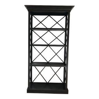 Black Lattice Bookcase