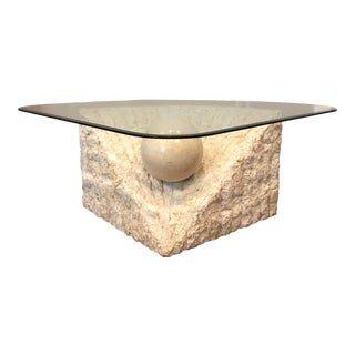 1970s Post Modern Tessellated Stone Magnussen Ponte Coffee Table For Sale