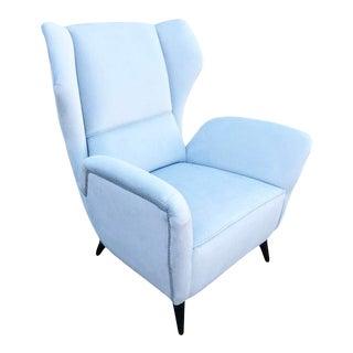 Italian Mid-Century Wingback Chair For Sale