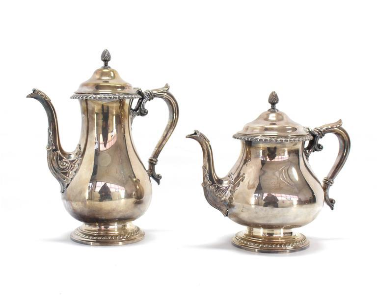Five Pieces Gorham Silver Plated Coffee and Tea Set - Image 2 of 9  sc 1 st  Decaso & Superb Five Pieces Gorham Silver Plated Coffee and Tea Set | DECASO