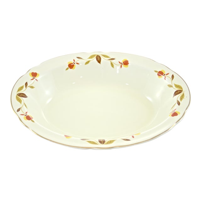 Leaf & Vine Oval Bowl For Sale
