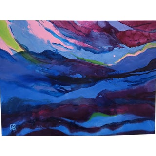 Beyond the Blue Horizon Painting by Adria Becker For Sale