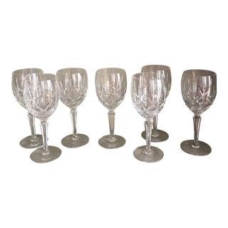Crystal Wine Glasses - Set of 7 For Sale