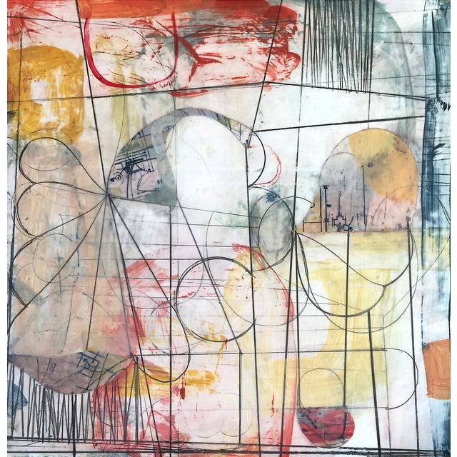 'Room of Tatters No. 4' Mixed Media Drawing - Image 1 of 2