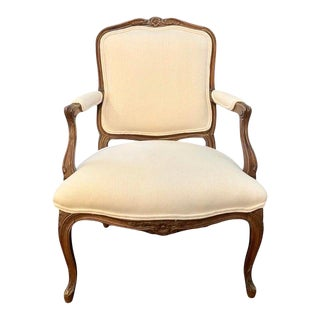 1960's French Louis XV Style Vintage Armchair For Sale
