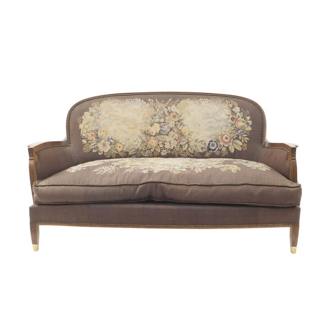 1940s French Art Deco Loveseat For Sale