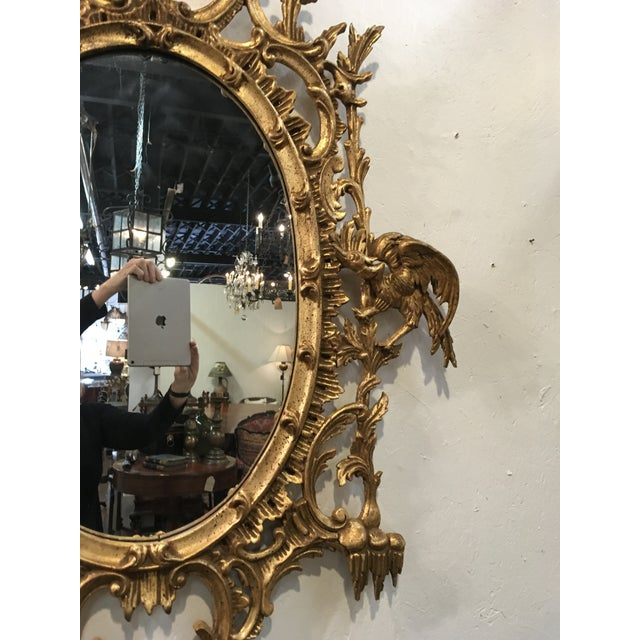 1960s Chinese Chippendale Style Giltwood Mirror For Sale - Image 5 of 8