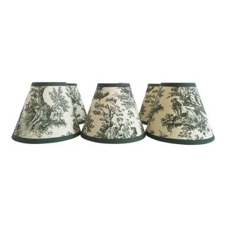 Vintage French Toile Lamp Shades-Set of 6 For Sale
