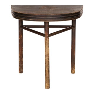 Semi Circle Pine Wall Table
