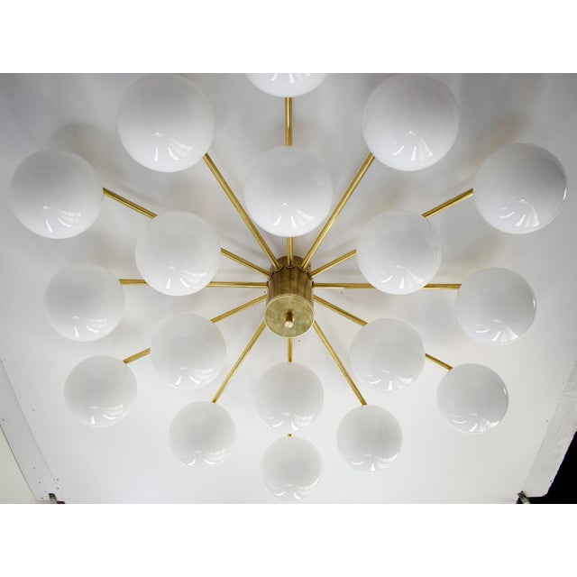 White Globes Flush Mount by Fabio Ltd For Sale - Image 8 of 12