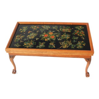 Late 20th Century Custom English Style Coffee Table For Sale