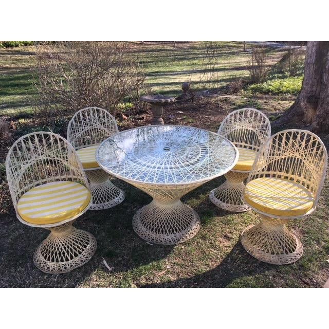 Fiberglass Woodard Fiberglass Patio Dining Set For Sale - Image 7 of 7