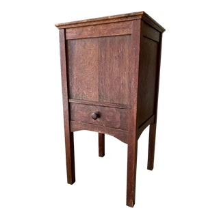 Vintage Antique Sewing Cabinet For Sale