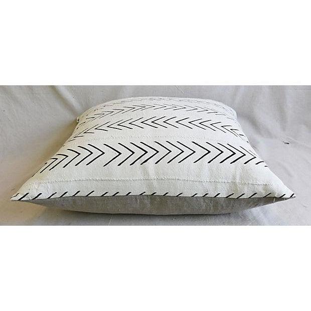 "Bohemian Chic Jumbo 32"" Black & White Tribal Pillow/ Floor Cushion For Sale - Image 5 of 8"