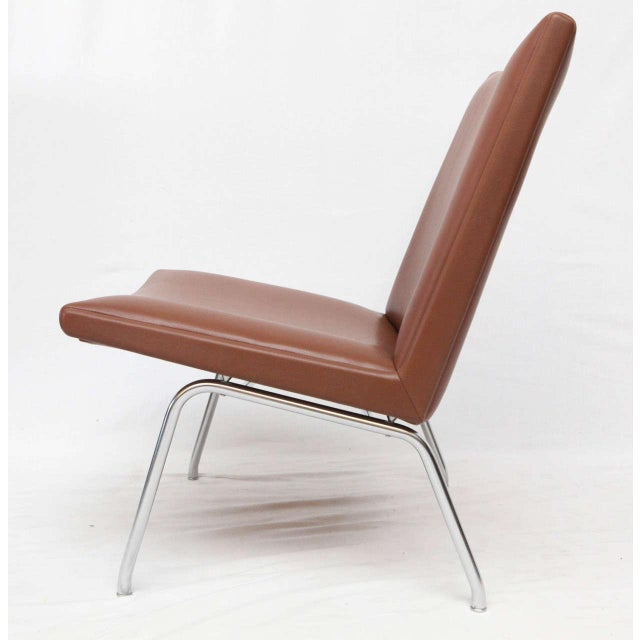 Animal Skin Hans Wegner AP 39 Lounge Chairs For Sale - Image 7 of 10