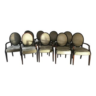 Nancy Corzine Oval Back Dining Chairs - Set of 10 For Sale