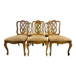 1960s Thomasville Tableau Collection Dining Chairs - Set of 6 For Sale