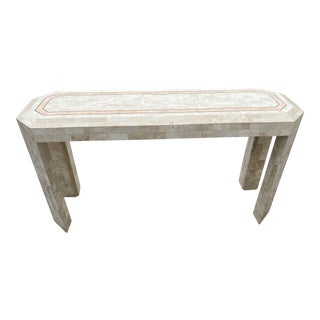 Mid-Century Tessellated Tile Console Table For Sale