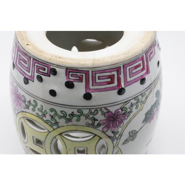 Miniature Ceramic Garden Stool Figurine For Sale - Image 10 of 13
