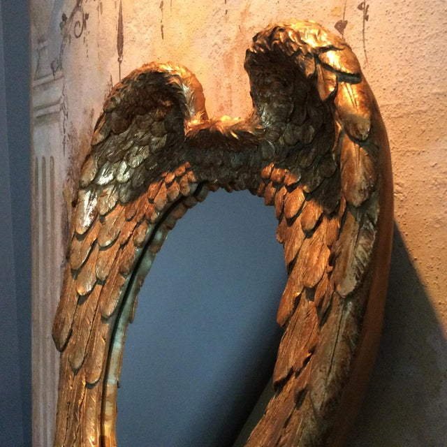 Gilded Angel Wings Mirror - Image 5 of 8