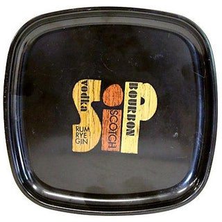 Mid-Century Couroc Bar Tray