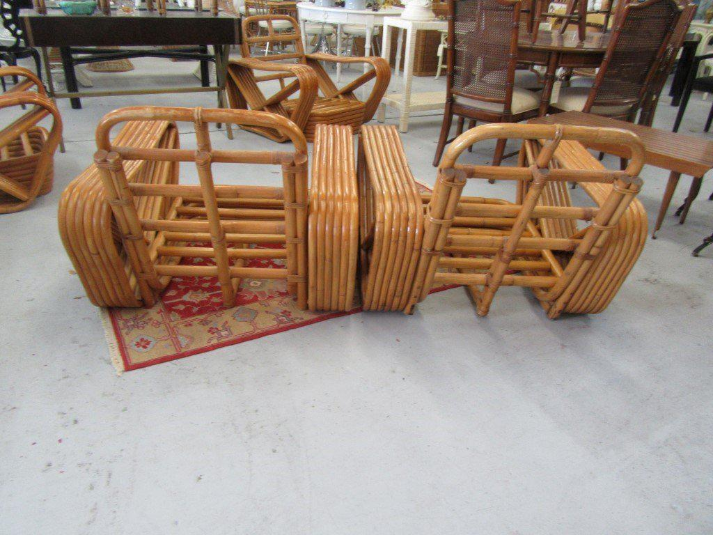 Paul Frankel 6 Band Pretzel Lounge Chairs   A Pair   Image 6 Of 7