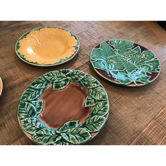 Plates are custom made for Occasions Caterers, made in Portugal. Each is uniquely designed. Total of 6 plates. Colors are...