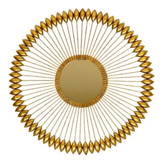 Modern Gold Illume Sculpture Wall Mirror For Sale