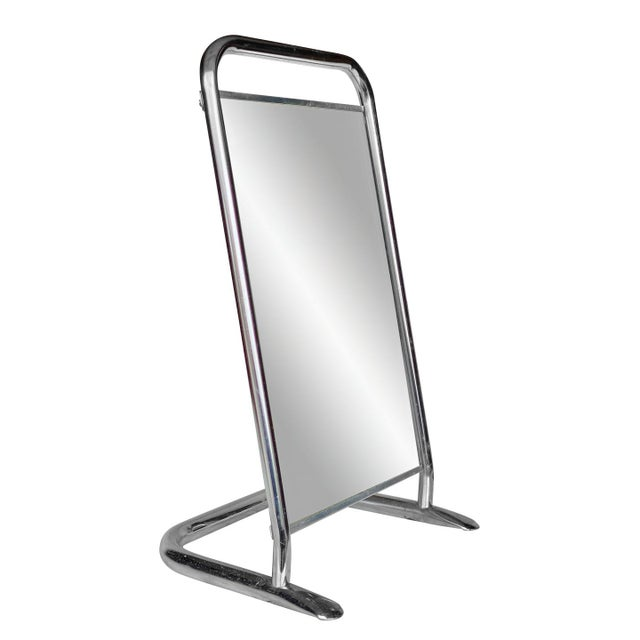 Vintage Medical Doctor's Chrome Floor Table Mirror For Sale - Image 10 of 10