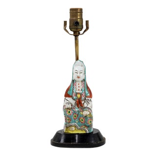 18th Century Asian Figurine Mercy Buddha Lamp For Sale
