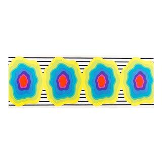 Marimekko Mid Century Modern Wall Art Fabric on Frame For Sale