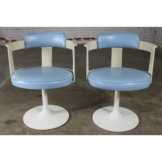 Daystrom Furniture Tulip Style Swivel Chairs - A Pair For Sale - Image 11 of 11