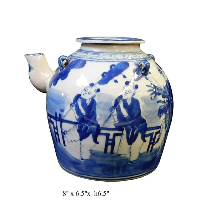 Chinese Blue & White Porcelain Kirin Teapot For Sale In San Francisco - Image 6 of 6