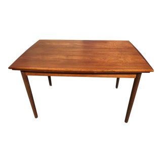 Danish Mid-Century Teak Dining Table With Extendable Leaves For Sale