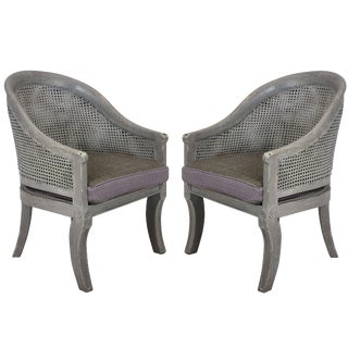 Pair of Regency Style Cane Chairs