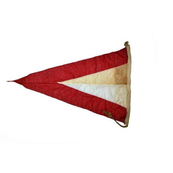 Vintage Naval Signal Flag Pennant - Image 3 of 4