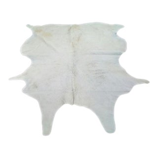 Natural White Cowhide Rug - 6′ × 7′ For Sale