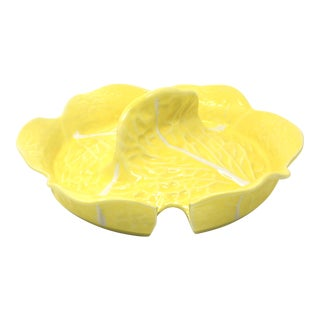 Vintage Secla Yellow Cabbage Tureen Lid For Sale