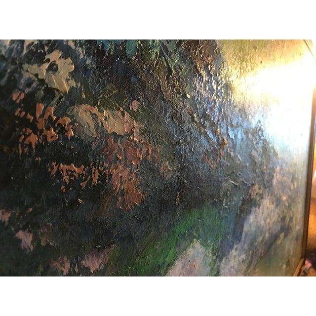 Paint Mid-Century Purple Mountains Landscape Painting For Sale - Image 7 of 10