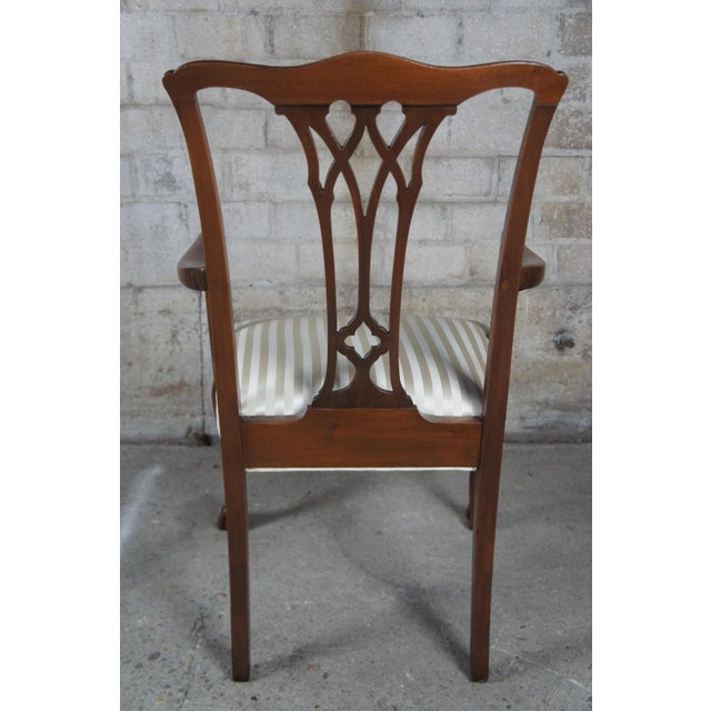 Chippendale Style Mahogany Dining Arm Chair, Ball & Claw Feet For Sale - Image 4 of 12