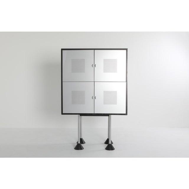 Gerard Van Den Berg 1980s Pastoe Postmodern Memphis Style Cabinet by Gerard Van Den Berg For Sale - Image 4 of 12