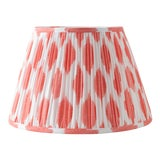 "Image of Signature Ikat in Coral 16"" Lamp Shade, Peach For Sale"