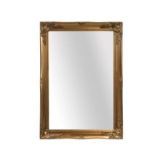 Maissance Gold Solid Wood Wall Mirror For Sale